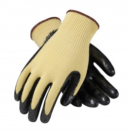 G-Tek CR Seamless Knit Kevlar® Glove with Nitrile Coated Smooth Grip on Palm & Fingers - Medium Weight