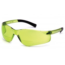 Pyramex Safety - Ztek Readers - Pale Green/IR 1.5 Pale Green + 2.0 Lens Polycarbonate Safety Glasses - 6 / BX