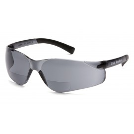 Pyramex Safety - Ztek Readers - Gray Frame/Gray + 2.0 Lens Polycarbonate Safety Glasses - 6 / BX