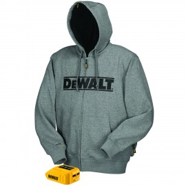 Dewalt Grey Heated Hoodie Grey Color - 1 / Box