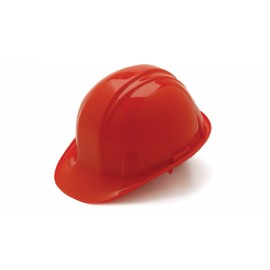Pyramex Hard Hats Red-Standard Shell 4 Pt - Snap Lock Suspension (1 Case of 16)