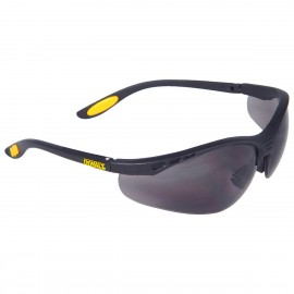 DEWALT Reinforcer - Smoke Lens Safety Glasses Half Frame Style Black Color - 12 Pairs / Box