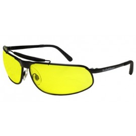 10X Safety Glasses with Matte Black Frame and Yellow Lens