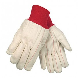 Double Palm Red Knit Wrist Glove