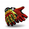 HexArmor GGT5 Arctic Gator Safety Gloves Red Color 1 Pair