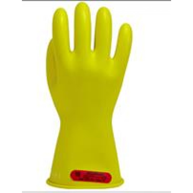 "Yellow Class 0 14"" Insulating Rubber Gloves"