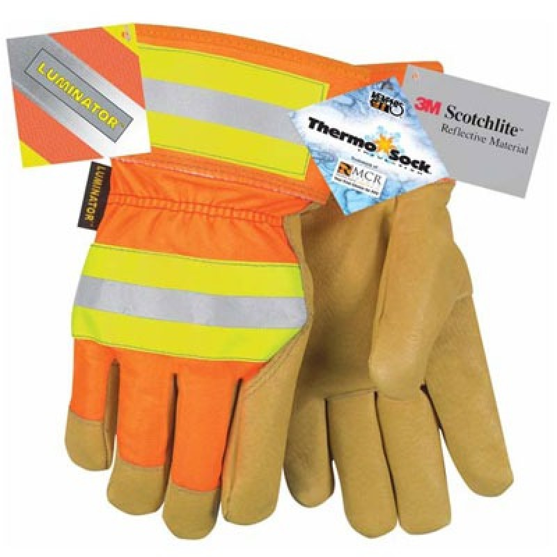Hi Vis Pigskin Leather Palm Glove