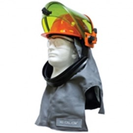 Salisbury LFH40PLT Arc Flash 40 Cal Lift Front Hood Premium Light Weight Material Gray Color One Size - 1 / EA