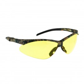 Radians Rad-Apocalypse - Amber Anti-Fog Lens - Camo Frame Safety Glasses Half Frame Style Camo Color - 12 Pairs / Box