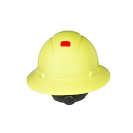 3M™ Full Brim Hard Hat H-809R-UV, Hi-Vis Yellow 4-Point Ratchet Suspension,with Uvicator,