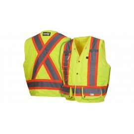 Pyramex Safety Products Class 2 RCMS28 Series Safety Vest Lime Color - 1 / Each