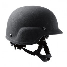 3M™ Law Enforcement Ballistic Helmet BA3A - Universal Fit - PASGT Cut (with Brim) - 98009004650 - Black