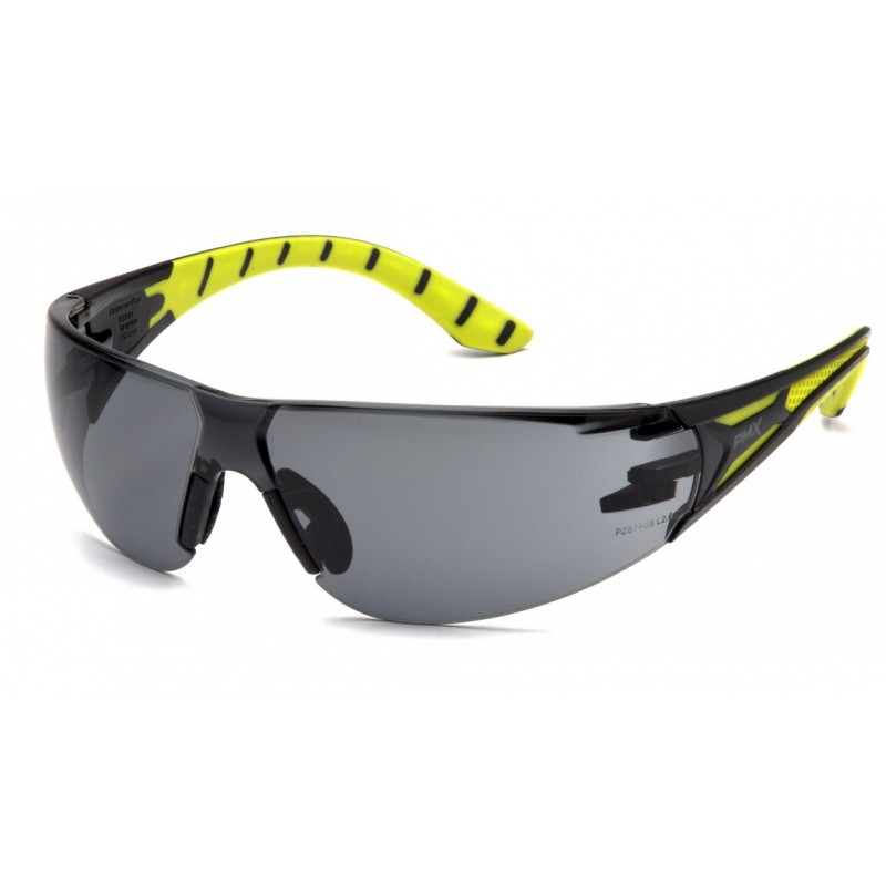 Pyramex Endeavor Plus Safety Glasses Gray Lens Green Frame - 12 per Box