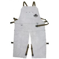 "Memphis Welding Bib Apron with Split Leg and Front Pocket, 24"" x 42"" - 38242MW"