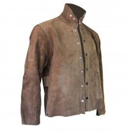 CPA Leather Welding Jacket, Brown Color 1 Each